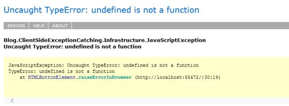 Logging Javascript Exceptions Custom Solution Elmah
